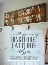 Longitudelatitude Sign Funny Top Cute Home Decor Signs Sweet Apartment Wood College Cricut