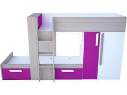 conforama chambre fille lit superposé 90x190 cm duo coloris fuchsia vente de lit enfant