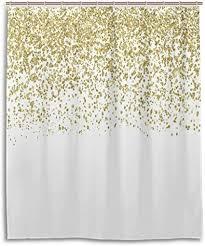 glitzerndes goldenes glitzer konfetti auf einfachem weißem
