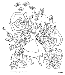 Alice In Wonderland Disney Coloring Pages Color Plate Sheetprintable