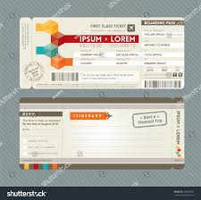 Free Airline Ticket Wedding Invitation Templates Elegant Modern Boarding Pass Stock Vector