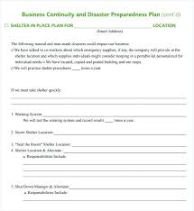 Shelter In Place Plan Template Recovery Action Wellness Sample Personal Safety