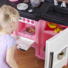 Step2 Heart Of The Home by Step2 Coffee Time Kitchen Includes 21 Piece Cook Set Pink And