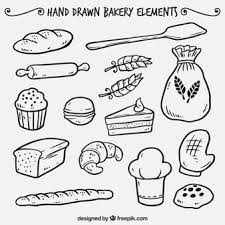 Hand drawn bakery elements