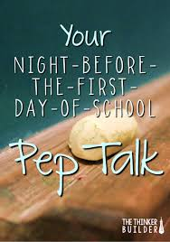 Twas The Night Before Halloween Poem by Your Night Before The First Day Of Pep Talk Encouragement