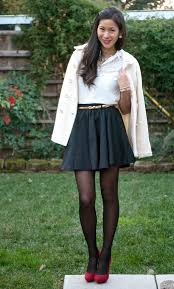 Top Shop Blouse And Skater Skirt