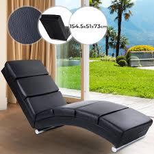 miadomodo wohnzimmer relaxliege ergonomisch gepolstert 154x51x73cm kunstleder schwarz liegestuhl relaxsessel chaiselongue loungesessel