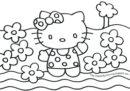 Hello Kitty Free Printable Coloring Pages Kids Valentine Full Size