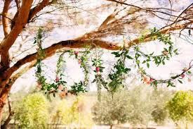 Love Spelled In Vines For A Rustic Green Wedding