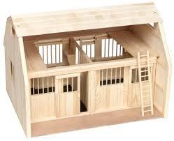 amazon com breyer wood horse barn large traditional toys u0026 games