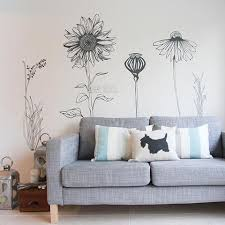 Hand Drawn Flower Pack Tall Flowers Perfect For A Bedroom Wall