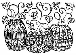Coloring Adult Halloween Three Pumpkins