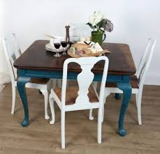 I Would Do A Color Other Than White But Love The Table Chairs Esp Stained Top Colored Legs