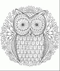 Marvelous Printable Hard Owl Coloring Pages Adult With Fun For Adults And