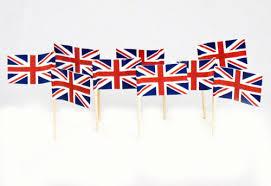 United Kingdom Flag Toothpicks