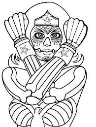 Coloring Pages For Adults Day Of The Dead 466 Best Images
