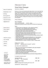 Resume For Hotel Management Sample