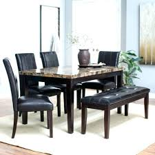 Black Dining Table Bench Set Dinning Room Sets Farmhouse Wood