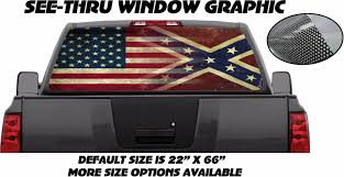 VINTAGE FLAG REAR Window Graphic Perf Decal Sticker Tint Truck Van ... Best Window Decals Graphics In Calgary For Trucks Cars Auto Motors Intertional English British Flag Rear Graphic Black Eagle Miller 19972018 F150 American Muscle Perforated Real 3d Grim Reaper Death Skull Decal Sticker Car Flying Pilot F16 Truck Suv Van Etsy Buy Grassland Camo Ducks Harley Davidson Platinum Design Build Co Coastal Sign Llc Buck At Dawn Police Elite And