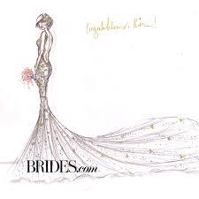 Kim Kardashian Wedding Dress Designer Sketches Alvina Valenta
