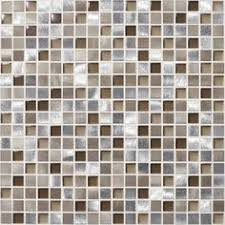 American Olean Chloe Mosaic Tile by American Olean Delfino Stone Icy Mist Mixed Material Mosaic Wall