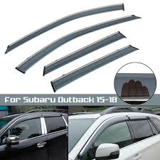 Car Window Sun Visor Rain Guard Wind Deflector For Subaru Outback ... How To Install Rain Guards Inchannel And Stickon Weathertech Side Window Deflectors In Stock Avs Color Match Low Profile Oem Style Visors Cc Car Worx Visor For 20151617 Toyota Camry Wv Amazoncom Black Horse 140660 Smoke Guard 4 Pack Automotive Lund Intertional Products Ventvisors And 2014 Jeep Patriot Cars Sun Wind Deflector For Subaru Outback Tapeon Outsidemount Shades Front Door Best Of Where To Find Vent 2015 2016 2017 Set Of 4pcs 1418 Silverado Sierra Crew Cab Shade