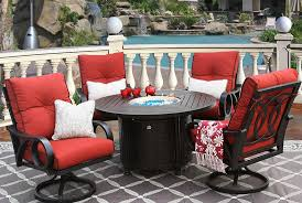 Cast Aluminum Patio Furniture With Sunbrella Cushions by Channel Cast Aluminum Outdoor Patio 5pc Dining Set 50 Inch Round