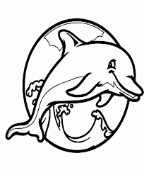 Dolphin The Fish Very Cute And Cool Coloring Pages