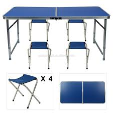 Folding Trestle Portable Camping Picnic Camping Bbq Banquet Party Table &4  Chairs - Buy Folding Chairs,Folding Table,Camping Table Product On ... Fold Up Camping Table And Seats Lennov 4ft 12m Folding Rectangular Outdoor Pnic Super Tough With 4 Chairs 120 X 60 70 Cm Blue Metal Stock Photo Edit Camping Table Light Togotbietthuhiduongco Great Camp Chair Foldable Kitchen Portable Grilling Stand Bbq Fniture Op3688 Livzing Multipurpose Adjustable Height High Booster Hot Item Alinum Collapsible Roll Up For Beach Hiking Travel And Fishing Amazoncom Portable Folding Camping Pnic Table Party Outdoor Garden