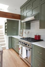 Green Kitchen Cabinets Pleasing Design Island Paint Colors