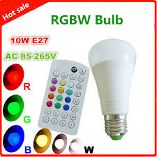 high tech multipurpose 10w color changing light bulb with remote