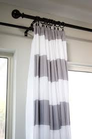 grey and white striped curtains modern home