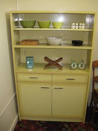 Groovy Vintage Yellow Metal Cabinet Lots Of PossibilitiesChina Hutch