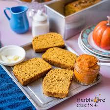 Starbucks Pumpkin Loaf Ingredients by Herbivore Cucina Super Quick Eggless Pumpkin Bread