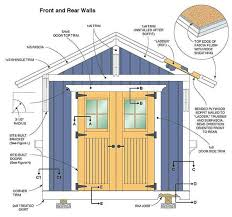 10 12 storage shed plans blueprints for constructing a beautiful