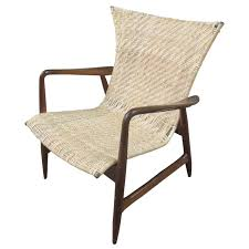 Re Caning Chairs London by Danish Lounge Chair In The Style Of Finn Juhl With Caned Seat And
