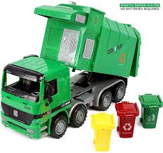 100 Garbage Truck Toy Click N Play Friction Powered With Cans