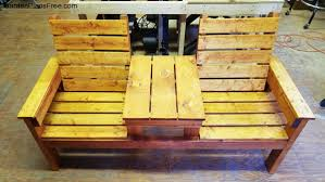 diy double chair bench with table free garden plans how to