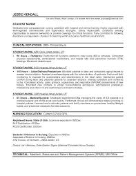 General Resume Objective Examples For College Students Example Student Nurse Free Sample Nursing School And N