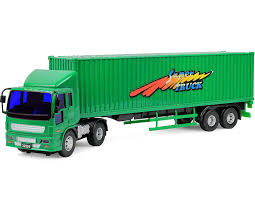Amazon.com: Click N' Play Friction Powered Jumbo Tractor Trailer ...