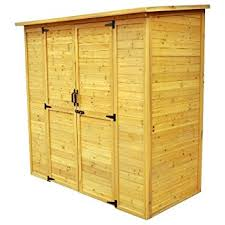 amazon com leisure season horizontal refuse storage shed solid