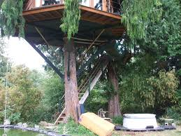 100 Tree Houses With Hot Tubs Tree House Hot Tub Pond In Fairhaven Hippievile Wa Flickr
