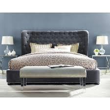 Gray Velvet King Headboard by Best 25 Tufted Bed Frame Ideas On Pinterest Tufted Bed
