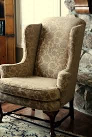 Chair Slip Cover Pattern by Furniture Vintage Floral Wing Chair Slipcover Design Appealing