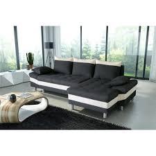 pegase canapé d angle droit convertible 4 places tissu noir et
