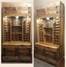 Lockable Liquor Cabinet Plans by Diy Rustic Wine And Liquor Cabinet With Recessed Lighting