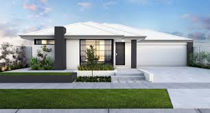 New Home Designs Plans Lovely Narrow Lot Single Storey Homes Perth