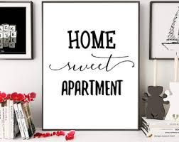 Home Sweet Apartment Wall Art Typography Print Decor
