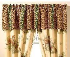 Cotton Blend Animal Print Curtains Drapes & Valances