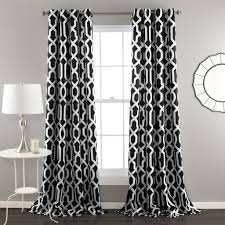 White And Gray Blackout Curtains by Edward Window Curtain Set Lush Décor Www Lushdecor Com